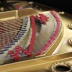 Bass bridge of Mason & Hamlin piano