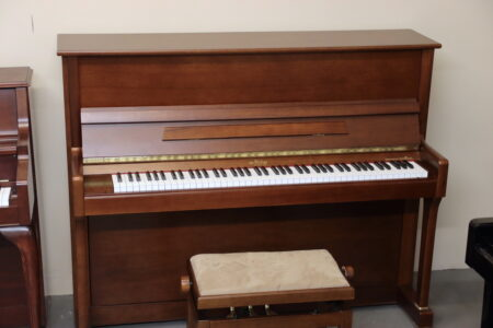 May Berlin M121 upright piano in walnut