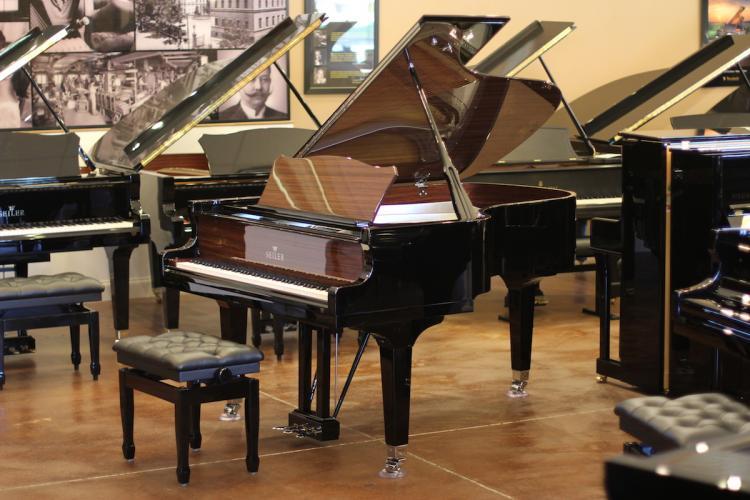 Seiler 170th Anniversary piano, full