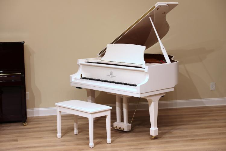 White Story & Clark baby grand player piano