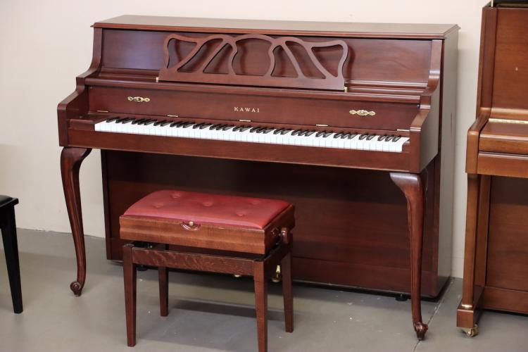 Kawai 505-F console piano in mahogany